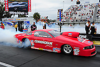 Mar. 10, 2012; Gainesville, FL, USA; NHRA pro stock driver Grace Howell during qualifying for the Gatornationals at Auto Plus Raceway at Gainesville. Mandatory Credit: Mark J. Rebilas-