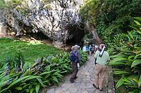 Bird-watchers at La Cueva de los Portales, La Güira National Park, Cuba