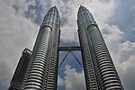 The Petronas Towers in Kuala Lumpur, Malaysia were the tallest buildings in the world from 1998 to 2004.