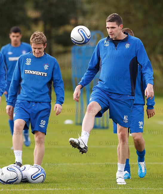 Kyle Lafferty and Steven Davis