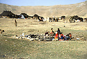 Iran 1982.A camp of Kurdish nomads