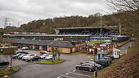 General view during the Sky Bet League 2 match between Wycombe Wanderers and Luton Town at Adams Park, High Wycombe, England on 6 February 2016. Photo by Andy Rowland.