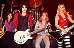 Runaways 1978 Laurie McAllister, Joan Jett, Sandy West, Lita Ford..© Chris Walter..