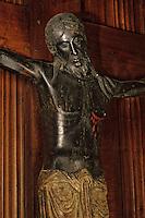 Europe/France/Auvergne/15/Cantal/Saint Flour: Cathédrale Saint Pierre - Beau dieu noir - Christ en bois XIII ème siècle