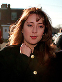 Lorena Bobbitt, 28, now known as Lorena Gallo, who achieved notoriety when she cut off her husband John's penis with a knife while he was asleep in bed in June 1993, as she leaves the Prince William County Courthouse in Manassas, Virginia with her mother, Elvia Gallo, 49, on December 8, 1997.  Mrs. Gallo had accused her daughter of simple assault after suffering a abrasion around the eyes and minor scratches in an attack in their Prince William home.<br /> Credit: Ron Sachs / CNP