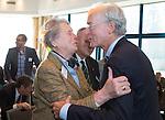 SOESTDUINEN - Ronald Pfeiffer met Annelies Eschauzier.  Algemene Ledenvergadering van de NGF (Nederlandse Golf Federatie) met bestuurswisseling. COPYRIGHT KOEN SUYK