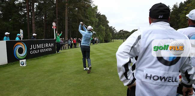 David Howell (ENG) plays down the 12th during Round Two of the 2015 BMW PGA Championship over the West Course at Wentworth, Virginia Water, London. 22/05/2015Picture David Lloyd, www.golffile.ie.