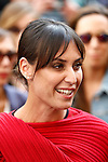 Flavia Pennetta at the Salvatore Ferragamo show during Milan Fashion Week Women's wear Spring/Summer 2016, in Milan on September 27, 2015.