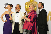 28 February 2016 - Hollywood, California - Tina Fey, Colin Gibson, Lisa Thompson, Steve Carell. 88th Annual Academy Awards presented by the Academy of Motion Picture Arts and Sciences held at Hollywood & Highland Center. Photo Credit: Byron Purvis/AdMedia