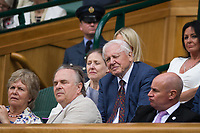 Sir David Attenborough in the Royal Box on Centre Court<br /> <br /> Photographer Ashley Western/CameraSport<br /> <br /> Wimbledon Lawn Tennis Championships - Day 11 - Friday 14th July 2017 -  All England Lawn Tennis and Croquet Club - Wimbledon - London - England<br /> <br /> World Copyright &copy; 2017 CameraSport. All rights reserved. 43 Linden Ave. Countesthorpe. Leicester. England. LE8 5PG - Tel: +44 (0) 116 277 4147 - admin@camerasport.com - www.camerasport.com