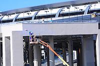 RIO DE JANEIRO, RJ, 07 DE JUNHO DE 2013 -OBRAS NO ENTORNO DO ESTÁDIO MARACANÃ-RJ- Movimentação de obras no entorno do estádio do Maracanã,Rio de Janeiro.FOTO:MARCELO FONSECA/BRAZIL PHOTO PRESS