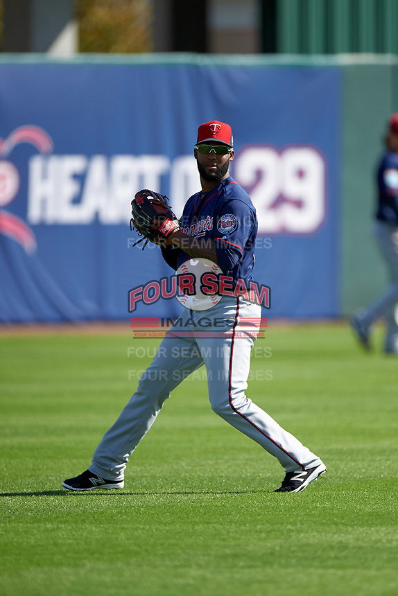 Minnesota Twins outfielder Danny Santana (39) during a Spring Training practice on March 1, 2016 at Hammond Stadium in Fort Myers, Florida.  (Mike Janes/Four Seam Images)