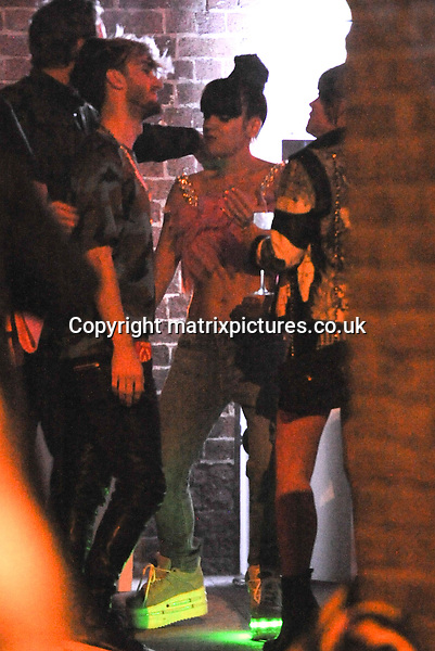 NON EXCLUSIVE PICTURE: PALACE LEE / MATRIXPICTURES.CO.UK<br /> PLEASE CREDIT ALL USES<br /> <br /> WORLD RIGHTS<br /> <br /> English recording artist Lily Allen attending her official after show party at Loft Studios, in London. <br /> <br /> Earlier on in the evening, Lily performed live at the Shepherd's Bush Empire to celebrate the launch of her new album Sheezus. <br /> <br /> APRIL 28th 2014<br /> <br /> REF: LTN 142086