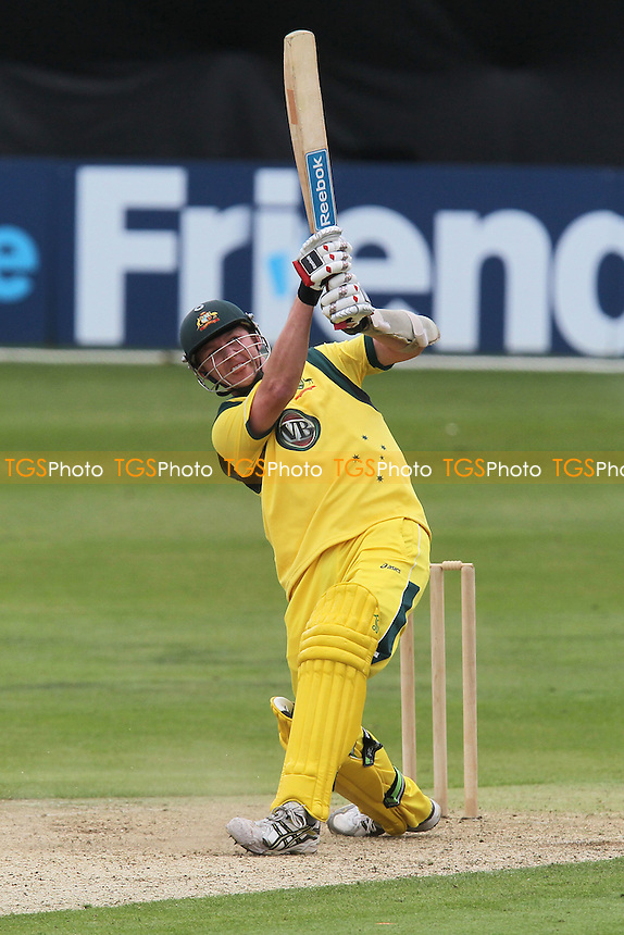 Brett Lee in batting action for Australia - Essex Eagles vs Australia - Tourist Match Cricket at the Ford County Ground, Chelmsford, Essex - 26/06/12 - MANDATORY CREDIT: Gavin Ellis/TGSPHOTO - Self billing applies where appropriate - 0845 094 6026 - contact@tgsphoto.co.uk - NO UNPAID USE.