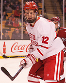 Chase Phelps (BU - 12) - The Harvard University Crimson defeated the Boston University Terriers 6-3 (EN) to win the 2017 Beanpot on Monday, February 13, 2017, at TD Garden in Boston, Massachusetts.