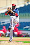 4 March 2010: Washington Nationals' pitcher Shairon Martis on the mound during the Nationals-Astros Grapefruit League Opening game at Osceola County Stadium in Kissimmee, Florida. The Houston Astros defeated the Nationals split-squad 15-5 in Spring Training action. Mandatory Credit: Ed Wolfstein Photo