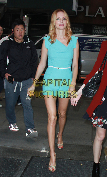 NEW YORK, NY - OCTOBER 23: Heather Graham at NBC's Today Show promoting Law &amp; Order: True Crime  in New York City on  October 23, 2017. <br /> CAP/MPI/RW<br /> &copy;RW/MPI/Capital Pictures