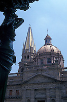 The cathedral in downtown Guadalajara, Mexico