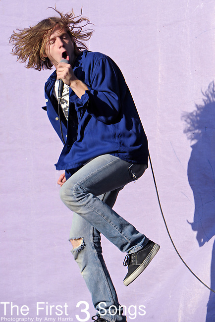 Matthew Shultz of Cage the Elephant performs during the 2010 Voodoo Experience in New Orleans, Louisiana.
