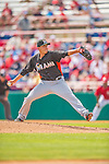 9 March 2013: Miami Marlins pitcher Alex Sanabia on the mound during a Spring Training game against the Washington Nationals at Space Coast Stadium in Viera, Florida. The Nationals edged out the Marlins 8-7 in Grapefruit League play. Mandatory Credit: Ed Wolfstein Photo *** RAW (NEF) Image File Available ***
