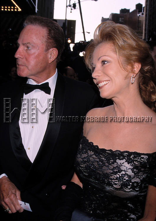 Kathie Lee Gifford and Frank Gifford ttend the Opening Night of 'The Producers' at the St. James Theatre on 4/19/2001 in New York City.