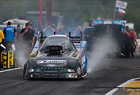 Apr 12, 2019; Baytown, TX, USA; NHRA funny car driver Blake Alexander during qualifying for the Springnationals at Houston Raceway Park. Mandatory Credit: Mark J. Rebilas-USA TODAY Sports