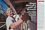 Bank of America Chairman and CEO (at time of photo), works on a Habitat for Humanity House in a low income neighborhood in Charlotte..This was for a cover story profiling McColl, one of the most powerful men in banking, for Institutional Investor Magazine.