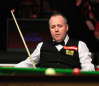 John Higgins rues a missed chance during the Dafabet Masters Q/F 4 match between John Higgins and Stuart Bingham at Alexandra Palace, London, England on 15 January 2016. Photo by Liam Smith / PRiME Media Images