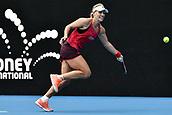 11th January 2018, Sydney Olympic Park Tennis Centre, Sydney, Australia; Sydney International Tennis,quarter final; Angelique Kerber (GER) in her match against Dominika Cibulkova (SVK)