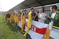 Hornchurch players acknowledge the supporters after having been promtedduring Witham Town vs AFC Hornchurch, Bostik League Division 1 North Football at Spa Road on 14th April 2018