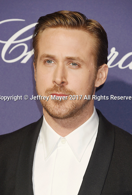 PALM SPRINGS, CA - JANUARY 02: Actor  Ryan Gosling attends the 28th Annual Palm Springs International Film Festival Film Awards Gala at the Palm Springs Convention Center on January 2, 2017 in Palm Springs, California.