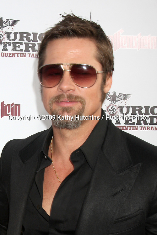 Brad Pitt  arriving  at the Los Angeles Premiere of Inglourious Basterds at Grauman's Chinese Theater in Los Angeles, CA  on August 10,  2009 .©2009 Kathy Hutchins / Hutchins Photo.