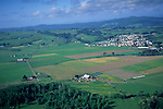 Aerial over the Eel River Valley, near Ferndale, Humboldt County, CALIFORNIA