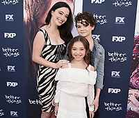 "NORTH HOLLYWOOD, CA - APRIL 19:  Mikey Madison, Olivia Edward and Hannah Alligood at the For Your Consideration Red Carpet event for FX's ""Better Things"" at the Wolf Theatre at Saban Media Center on April 19, 2018 in North Hollywood, California. (Photo by Scott Kirkland/FX/PictureGroup)"