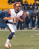 Syracuse quarterback AJ Long. The Pitt Panthers defeated the Syracuse Orange 30-7 at Heinz Field, Pittsburgh, Pennsylvania on November 22, 2014.