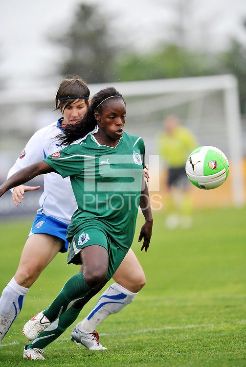 Eniola Aluka, Amy LePeilbet...Saint Louis Athletica  tied 1-1 with Boston Breakers at Anheuser-Busch Soccer Park, Fenton, MO.