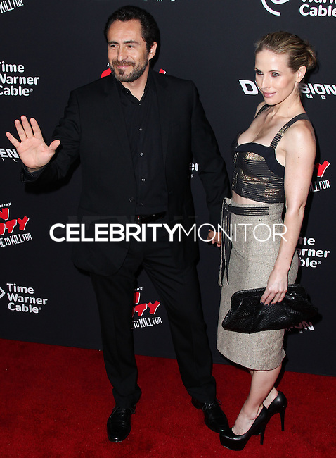 HOLLYWOOD, LOS ANGELES, CA, USA - AUGUST 19: Demian Bichir, Stefanie Sherk at the Los Angeles Premiere Of Dimension Films' 'Sin City: A Dame To Kill For' held at the TCL Chinese Theatre on August 19, 2014 in Hollywood, Los Angeles, California, United States. (Photo by Xavier Collin/Celebrity Monitor)