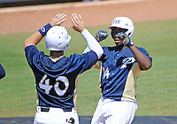 Florida International University outfielder Jabari Henry (14) plays against ULM. FIU won the game 8-6 on April 1, 2012 at Miami, Florida.