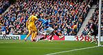 14.09.2019 Rangers v Livingston: James Tavernier's free kick sails into the net