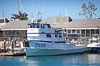 The Fury Fishing Boat In The Dana Point Harbor