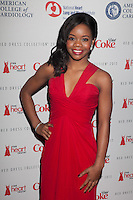 NEW YORK, NY - FEBRUARY 6: Gabrielle Douglas in .Pamella Roland attends The Heart Truth Red Dress Collection 2013 Fashion Show on February 6, 2013 in New York City. © Diego Corredor/MediaPunch Inc. ... /NortePhoto