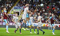 Burnley's Jack Cork heads his side into a 2-1 lead<br /> <br /> Photographer Alex Dodd/CameraSport<br /> <br /> UEFA Europa League - Europa League Qualifying Round 2 2nd Leg - Burnley v Aberdeen - Thursday 2nd August 2018 - Turf Moor - Burnley<br />  <br /> World Copyright © 2018 CameraSport. All rights reserved. 43 Linden Ave. Countesthorpe. Leicester. England. LE8 5PG - Tel: +44 (0) 116 277 4147 - admin@camerasport.com - www.camerasport.com