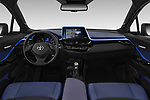 Stock photo of straight dashboard view of a 2018 Toyota C-HR C-ULT 5 Door SUV