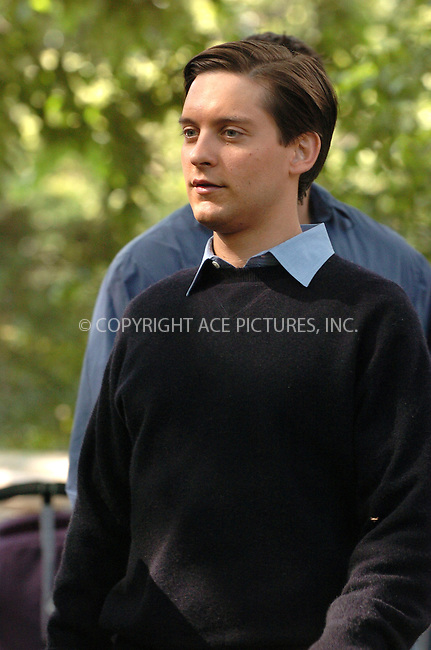 WWW.ACEPIXS.COM . . . . .  ....June 14, 2006, New York City....Tobey Maguire on the set of Spiderman 3.....Please byline: AJ Sokalner - ACEPIXS.COM.... *** ***..Ace Pictures, Inc:  ..(212) 243-8787 or (646) 769 0430..e-mail: picturedesk@acepixs.com..web: http://www.acepixs.com