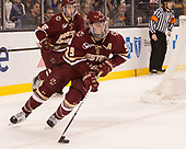 Austin Cangelosi (BC - 9) The University of Massachusetts-Lowell River Hawks defeated the Boston College Eagles 4-3 to win the 2017 Hockey East tournament at TD Garden on Saturday, March 18, 2017, in Boston, Massachusetts.