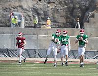 NWA Democrat-Gazette/J.T. WAMPLER Arkansas' quarterbacks warm up Saturday April 8, 2017 during a spring scrimmage while construction continues at Donald W. Reynolds Razorback Stadium.