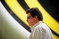 Nov. 14, 2009; Avondale, AZ, USA; NASCAR Sprint Cup Series president Mike Helton during practice for the Checker O'Reilly Auto Parts 500 at Phoenix International Raceway. Mandatory Credit: Mark J. Rebilas-