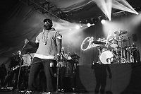 SAN FRANCISCO, CA - June 21: (L - R) Kirk Douglas, Black Thought, Ian Hendrickson-Smith, and Questlove of The Roots perform at Clusterfest on June 21, 2019 in San Francisco, CA. photo: Ryan Myers/imageSPACE/MediaPunch