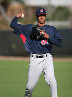 Cleveland Indians minor leaguer Hector Rondon during Spring Training at the Chain of Lakes Complex on March 17, 2007 in Winter Haven, Florida.  (Mike Janes/Four Seam Images)