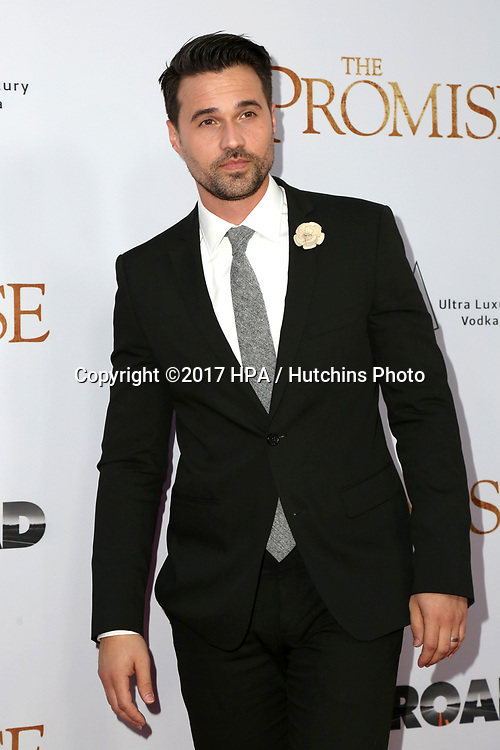 "LOS ANGELES - APR 12:  Brett Dalton at the ""The Promise"" Premiere at the TCL Chinese Theater IMAX on April 12, 2017 in Los Angeles, CA"